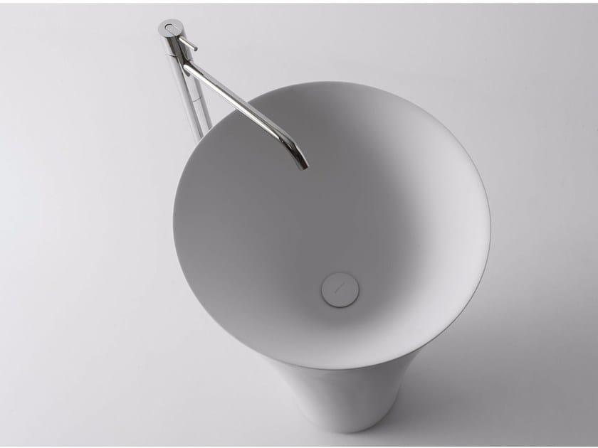 Freestanding Cristalplant® washbasin TUBA - Antonio Lupi Design®