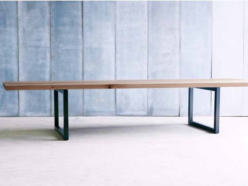 Custom oak table TUBE 6CM MTM - Heerenhuis