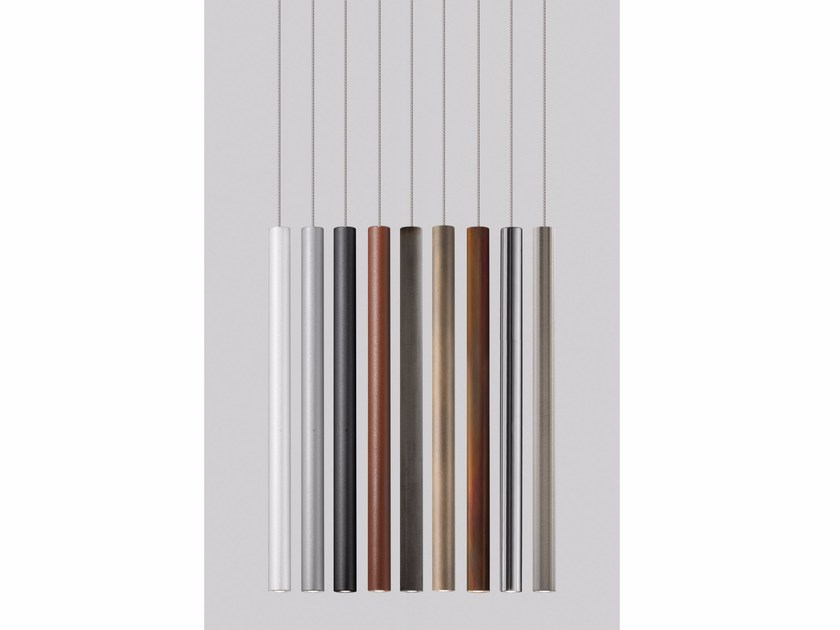 LED metal pendant lamp TUBE - Olev by CLM Illuminazione