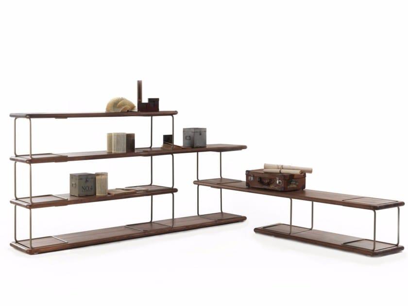 Open double-sided bookcase TUBULAR | Bookcase - Riva 1920