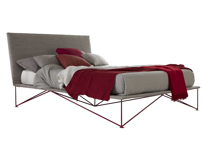 Double bed with removable cover TULIP - Bolzan Letti