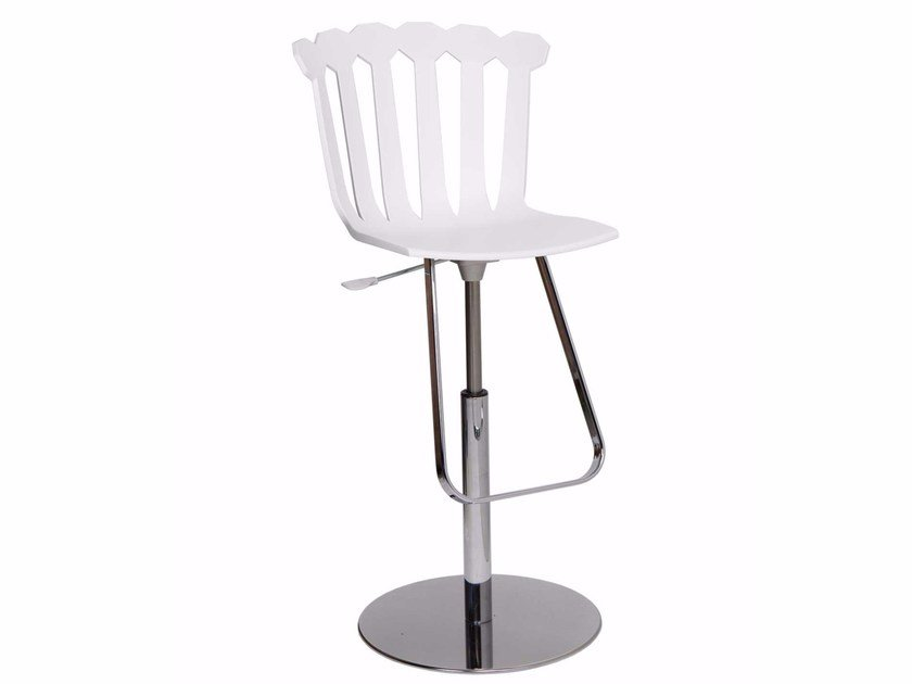 Height-adjustable counter stool with footrest TULIP - ITALY DREAM DESIGN - Kallisté