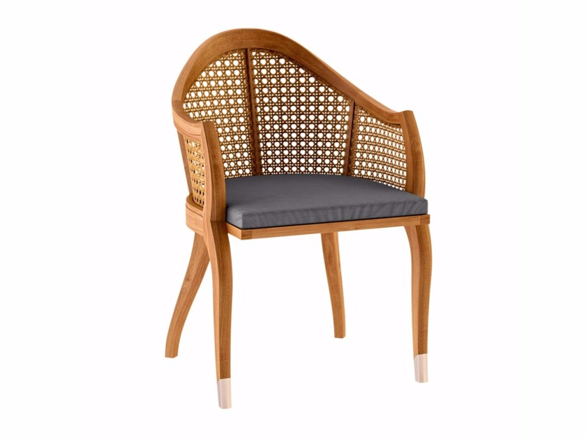 Teak garden chair with armrests TULIPE | Chair with armrests - ASTELLO