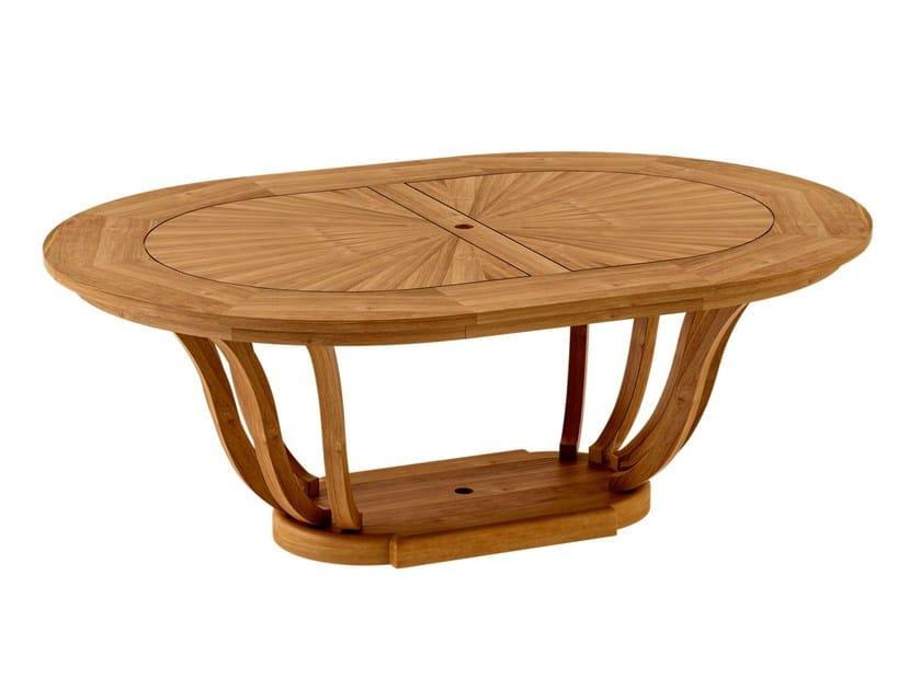 Oval teak garden table TULIPE | Garden table - ASTELLO