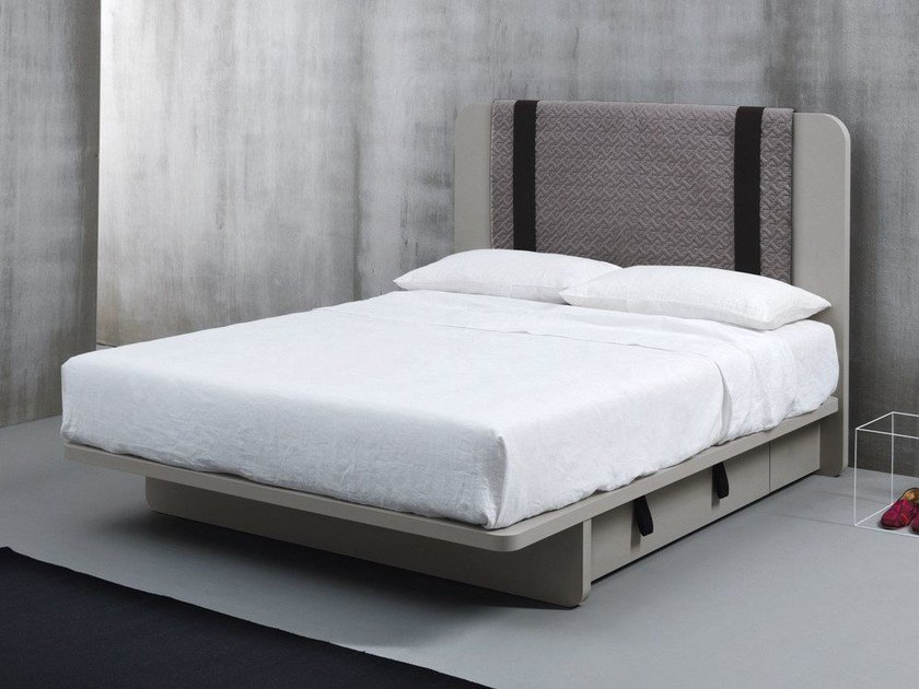 Wooden storage bed TUNE | Storage bed by Caccaro