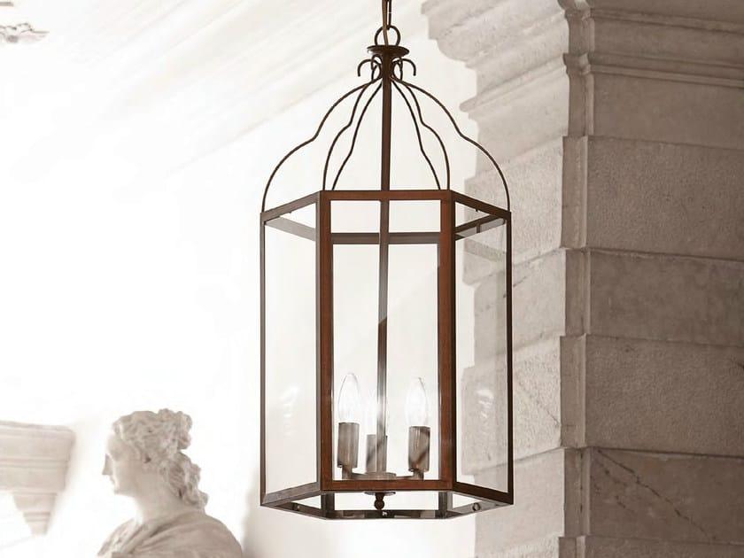 Direct-indirect light brass pendant lamp TURANDOT - Aldo Bernardi