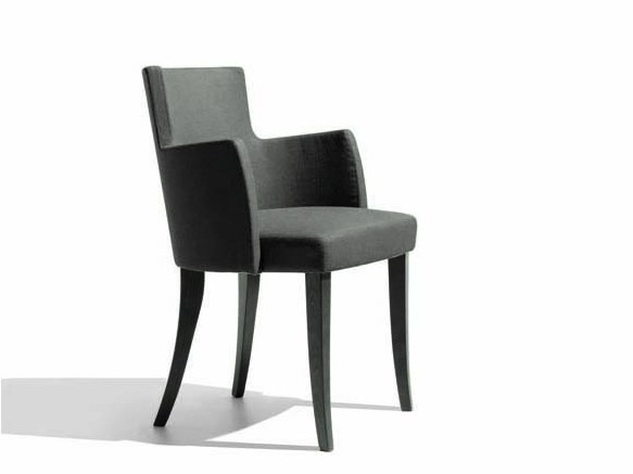 Fabric easy chair with armrests TURNÈ | Easy chair - Potocco