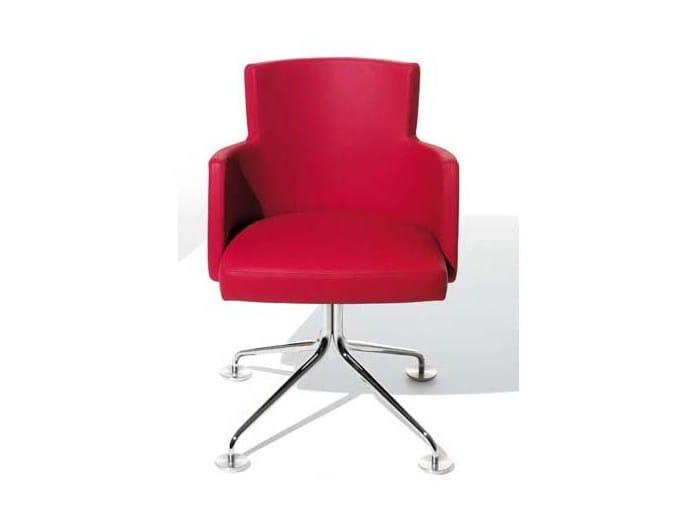 Swivel easy chair with 4-spoke base TURNÈ | Easy chair with 4-spoke base - Potocco
