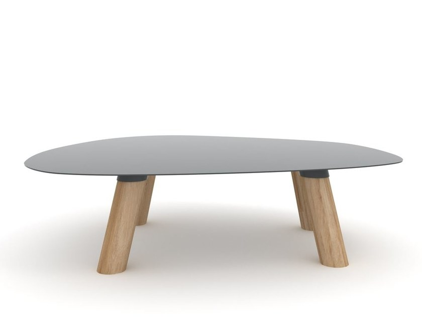 Metal and oak coffee table TURTLE - Universo Positivo