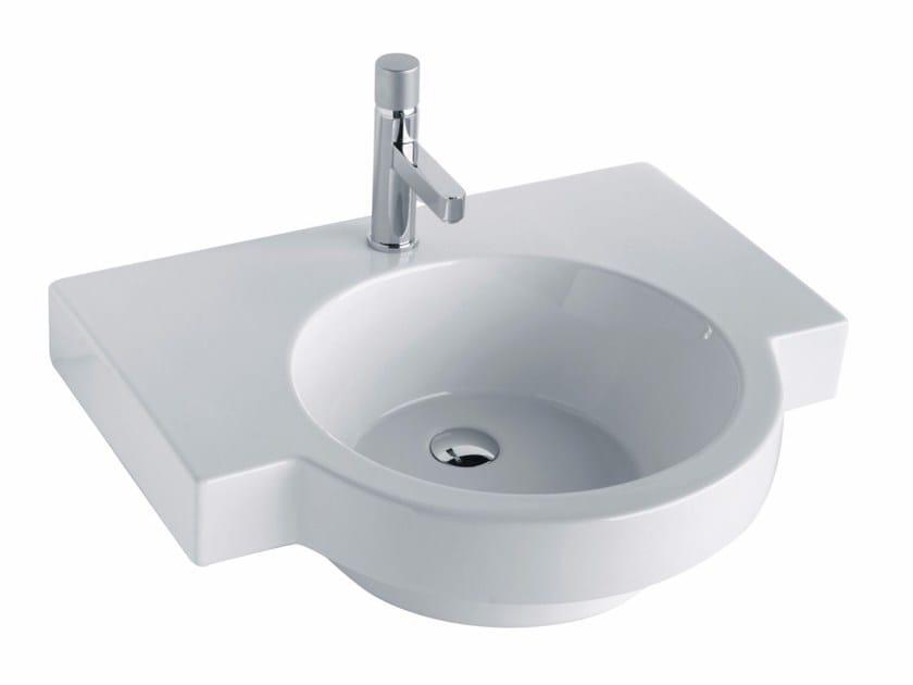 Wall-mounted washbasin TUTTO EVO | Wall-mounted washbasin - Olympia Ceramica