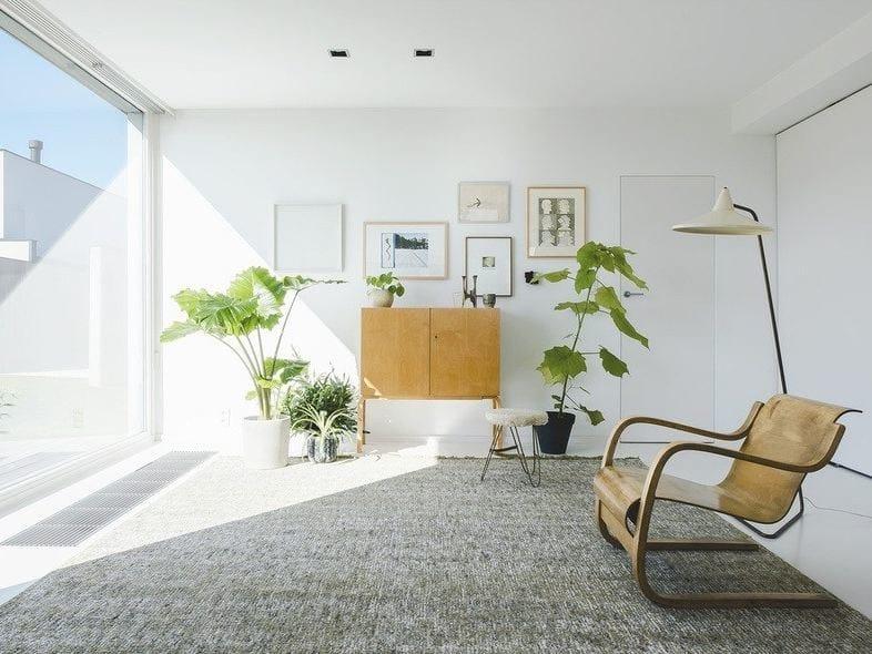 Patterned wool rug TWEED by Casalis