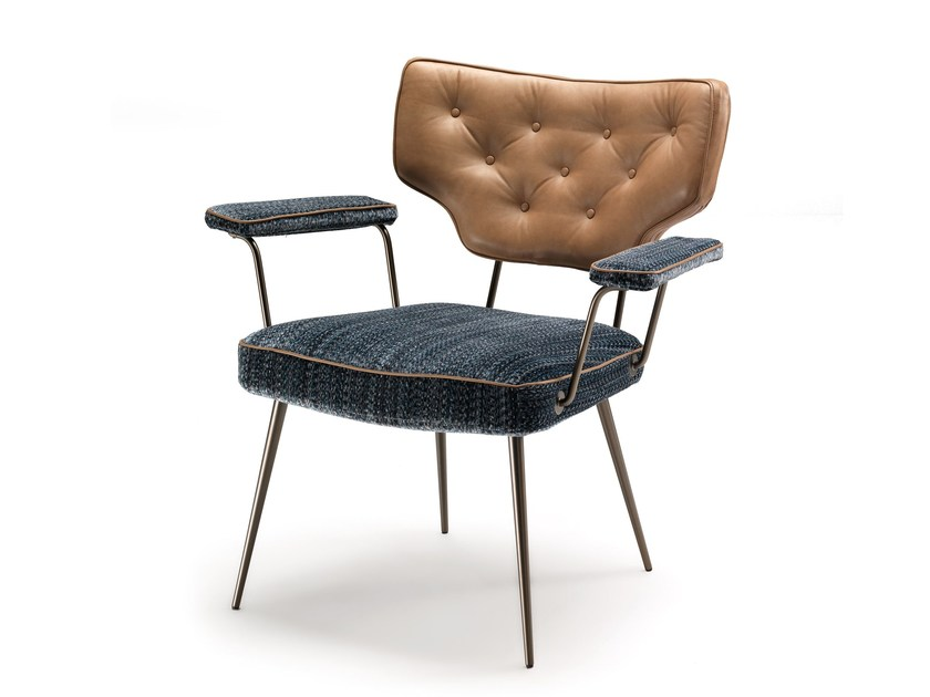 Upholstered chair with armrests TWIGGY - Arketipo