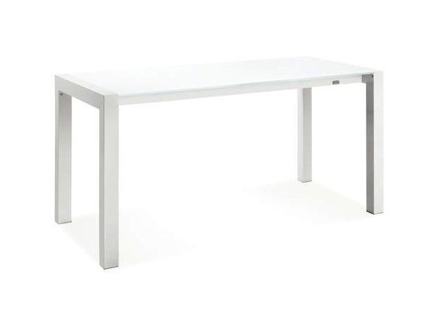 Extending rectangular glass table TWIN - CREO Kitchens by Lube