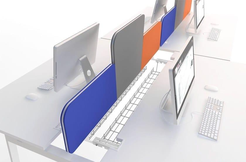 Workstation screen desktop partition TWIN | Workstation screen desktop partition by MDD