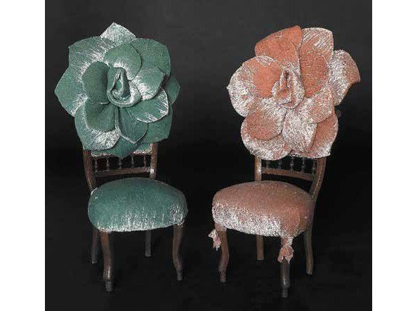 Upholstered fabric chair TWINS - MIRABILI