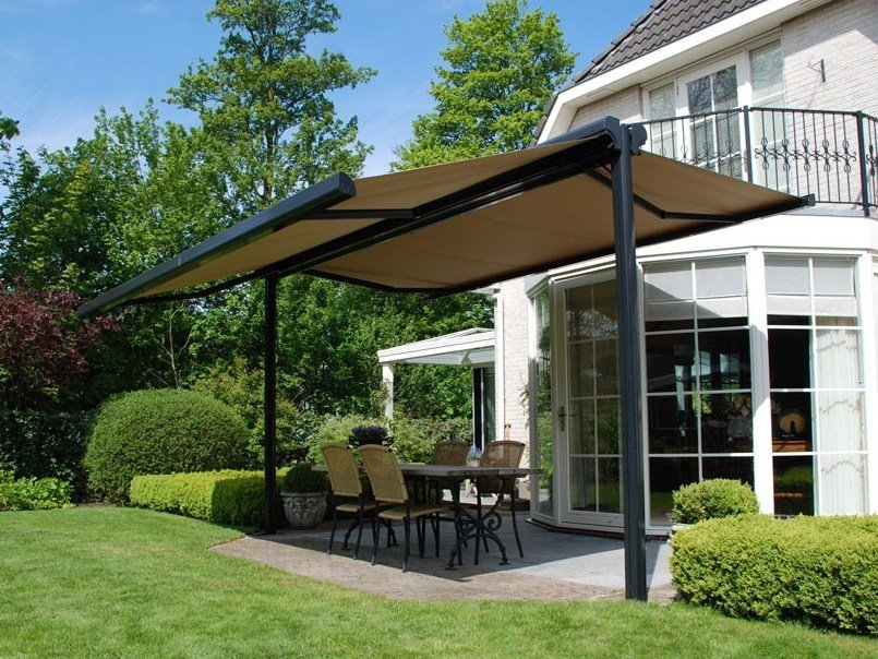 Folding arm awning TWINSTOR by BRUSTOR