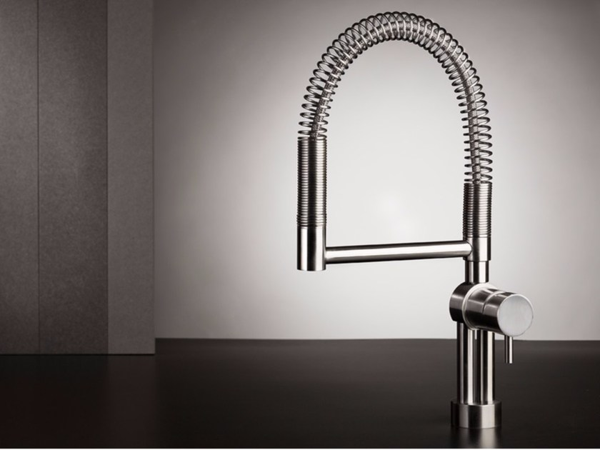 1 hole kitchen mixer tap with pull out spray TWIST - MINA