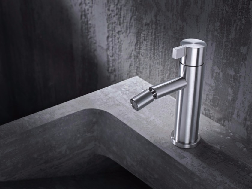 Countertop single handle stainless steel bidet mixer TXQ4 | Bidet mixer - Radomonte