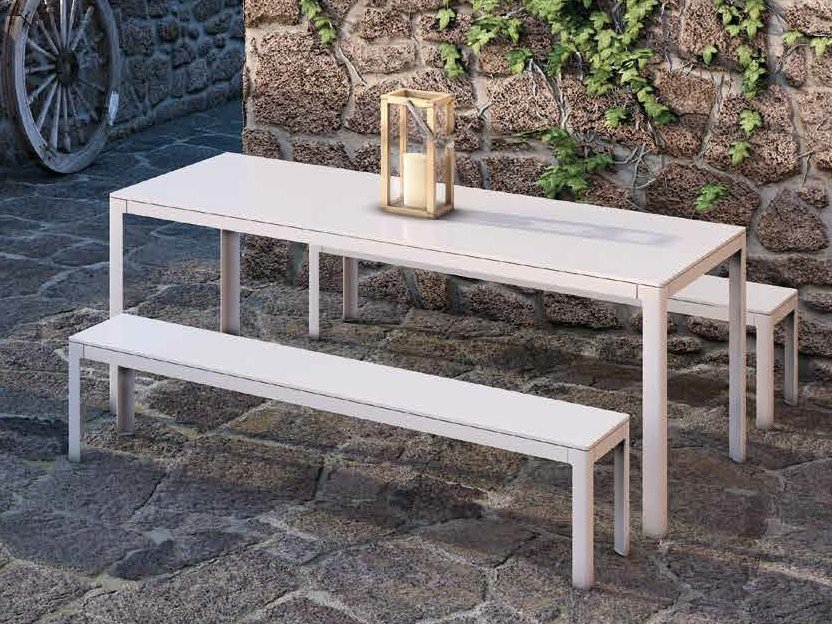 Rectangular powder coated aluminium dining table TYPE | Rectangular table by iCarraro