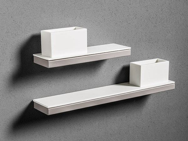 Corian® toothbrush holder / bathroom wall shelf TYPE | Toothbrush holder by MAKRO