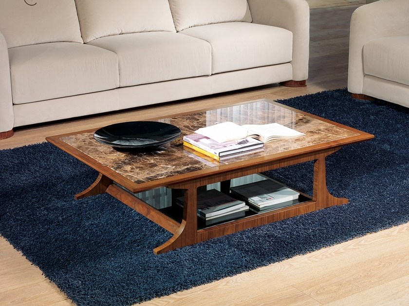 Low rectangular coffee table DESYO | Rectangular coffee table by Carpanelli Contemporary