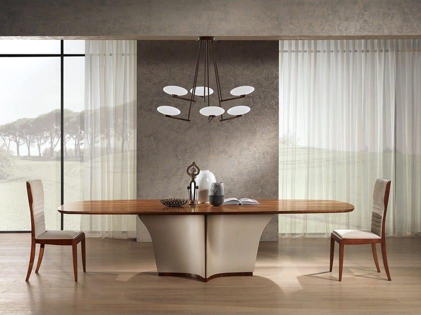 Contemporary style oval wooden table Tavolo Galileo piano fisso - Carpanelli Contemporary