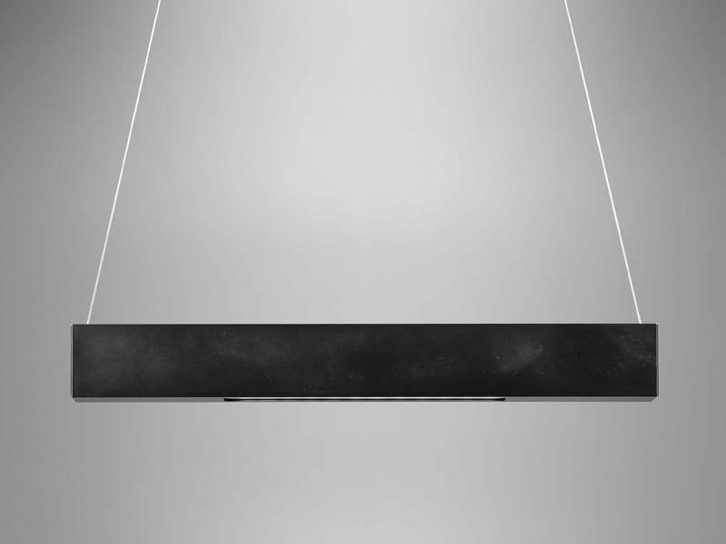 LED direct-indirect light aluminium pendant lamp Trave Sospensione - PURALUCE