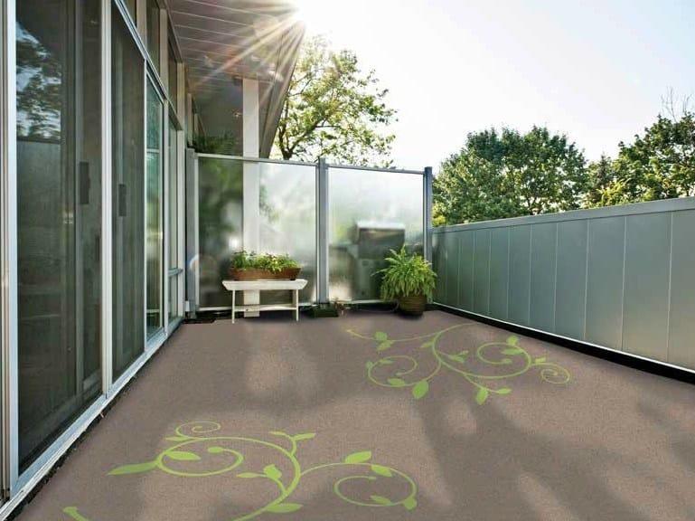 Outdoor floor tiles Triflex Floor Tattoos by Triflex Italia