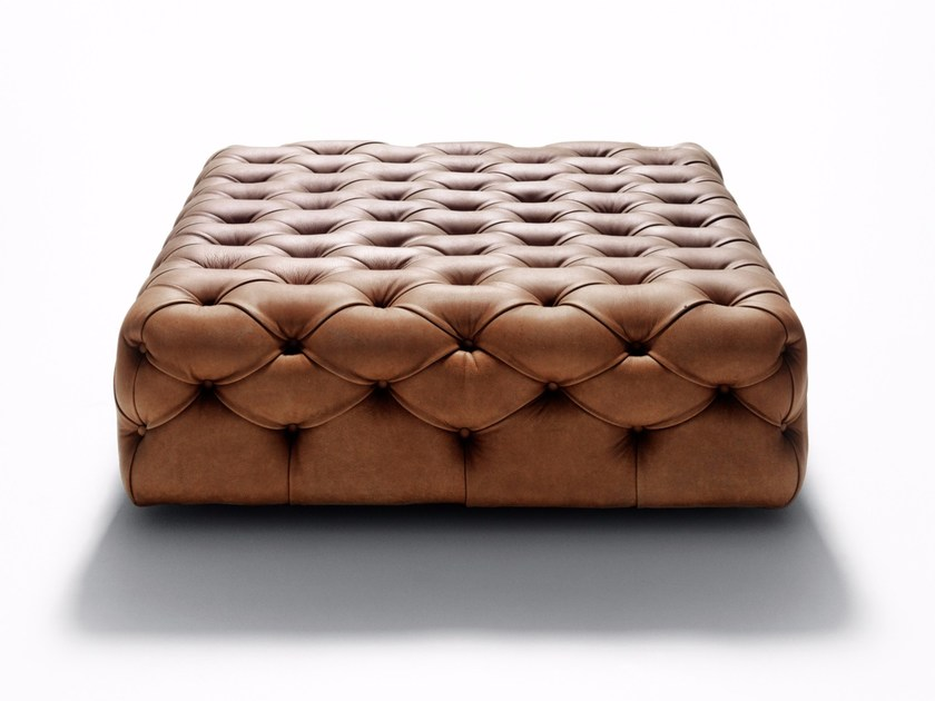 Tufted leather pouf Tufted pouf by DE PADOVA