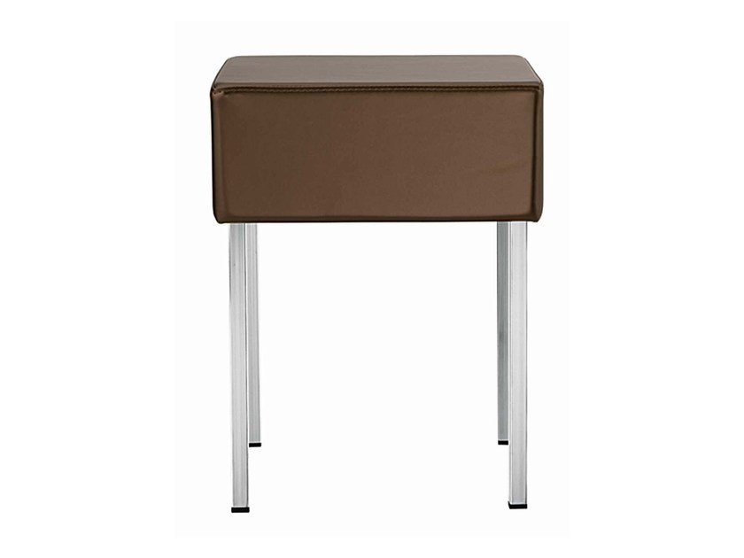 Low upholstered stackable stool Twin 369 - Metalmobil