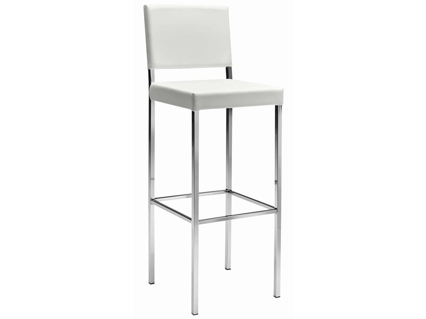 Upholstered fabric counter stool Twin 389 - Metalmobil