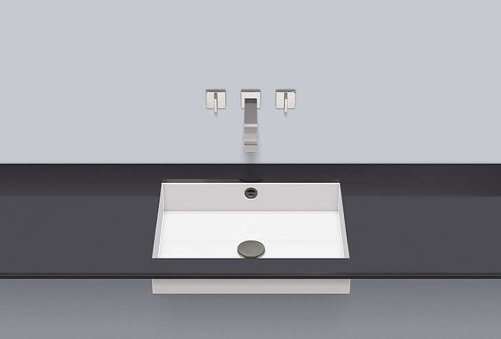 Undermount basin from glazed steel UB.ME500 - ALAPE
