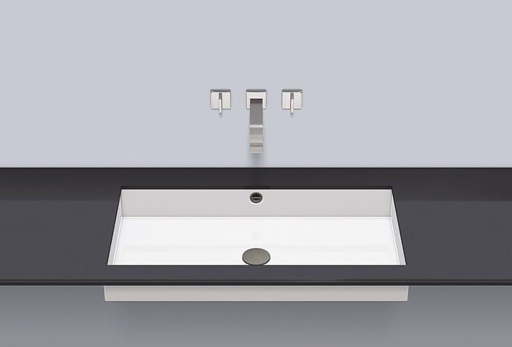 Undermount basin from glazed steel UB.ME750 - ALAPE