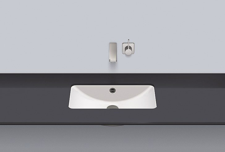Undermount basin from glazed steel UB.R585 - ALAPE