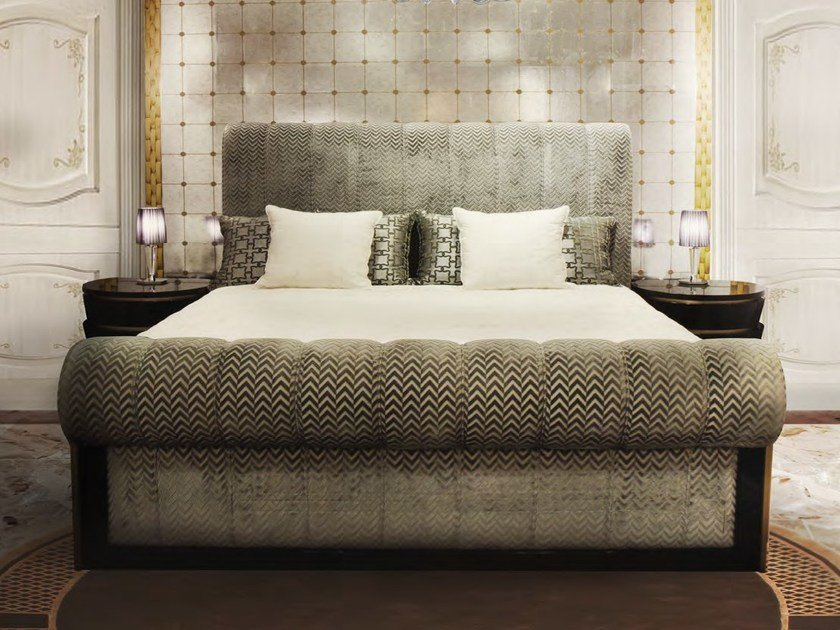 Double bed with upholstered headboard ULRICH | Bed - Formitalia Group