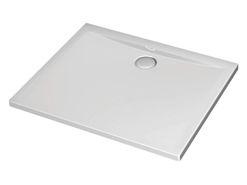 Rectangular acrylic shower tray ULTRA FLAT 100 x 80 cm - K5180 - Ideal Standard Italia