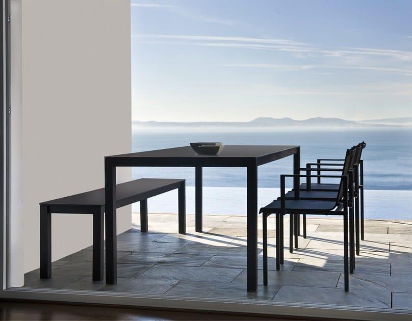 Tavolo da giardino rettangolare in hpl una tavolo for Tavolo hpl