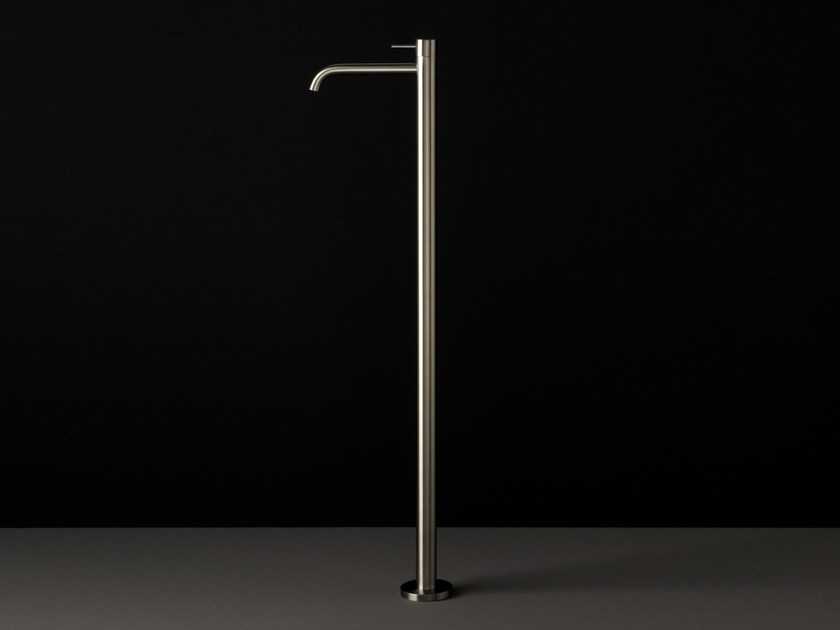 Floor standing single handle stainless steel washbasin mixer UNI | Floor standing washbasin mixer by Boffi