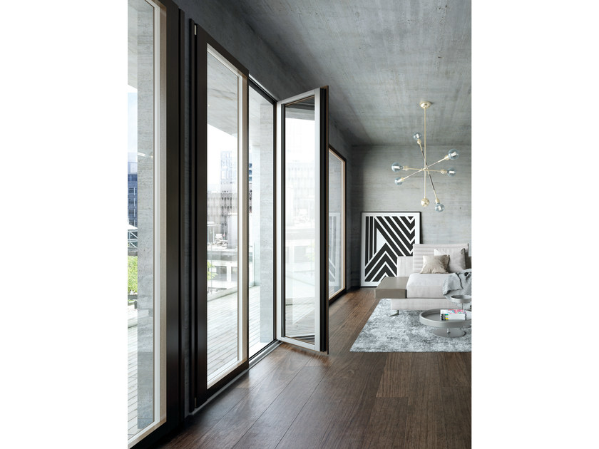 Aluminium and wood patio door UNICA | Aluminium and wood patio door - BG legno