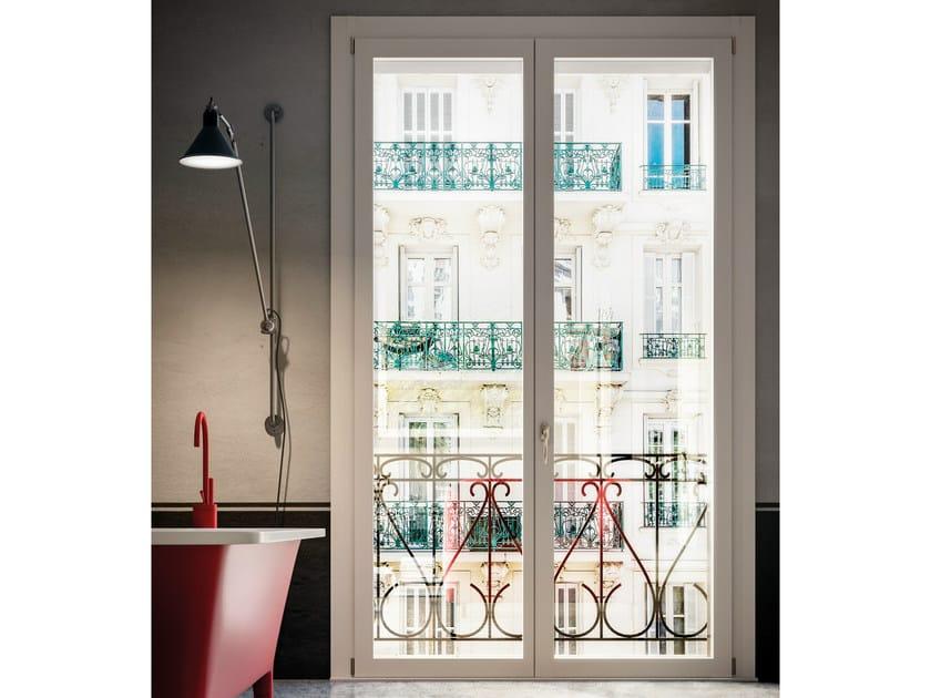 Porta finestra a battente in legno unica porta finestra in legno bg legno - Porta finestra legno ...