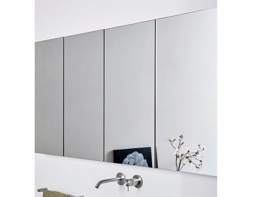 Wall-mounted bathroom mirror with cabinet UNICO | Mirror with cabinet by Rexa Design