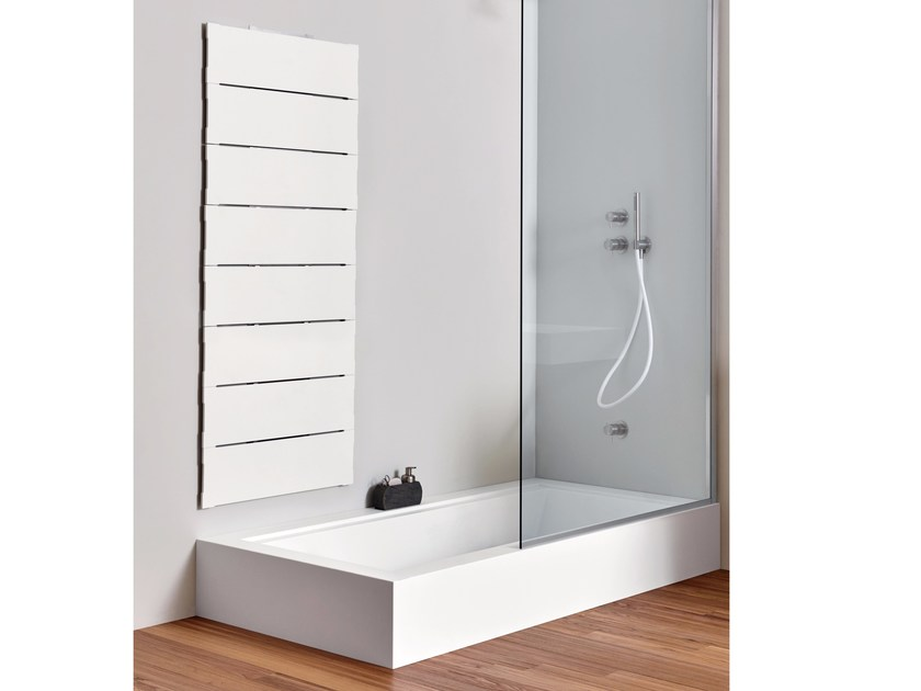 Vasca da bagno in corian con doccia da incasso unico - Vasca da bagno da incasso ...