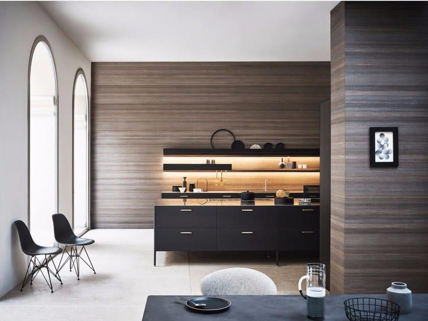 Cucina laccata con isola unit composizione 3 collezione for 3 arredamenti