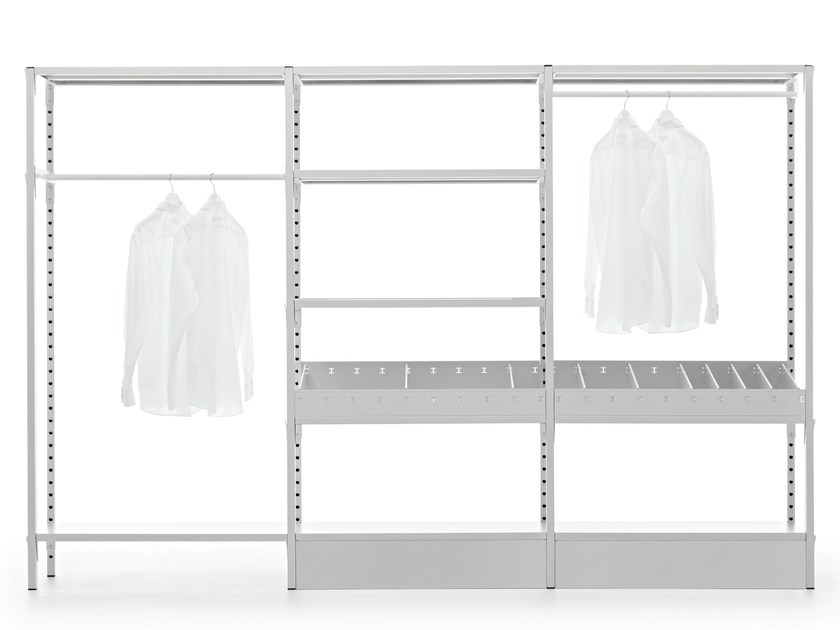 Custom metal walk-in wardrobe UNO | Walk-in wardrobe - Fantin