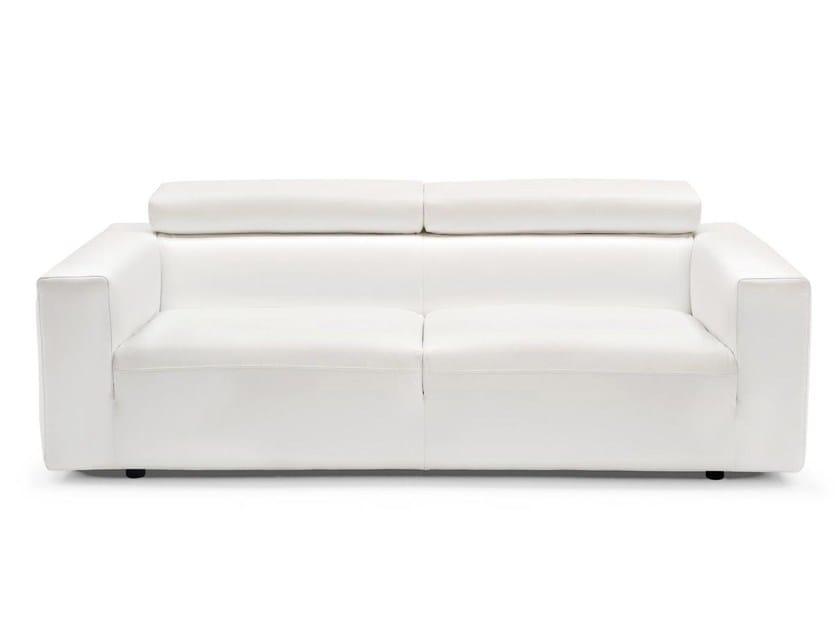 Modular leather sofa UPGRADE - Calligaris