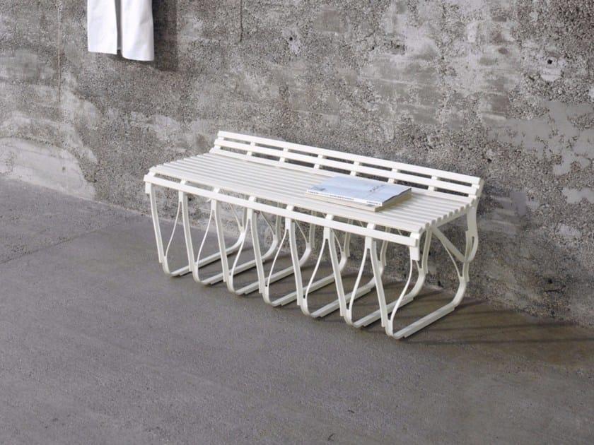 Painted metal garden bench UPON | Garden bench - Schönbuch