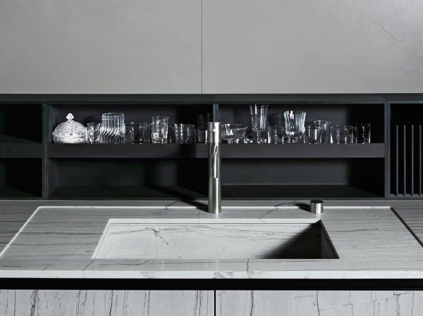 Fitted Paperstone® Kitchen backsplash UPPER UNITS | Paperstone® Kitchen backsplash - Boffi