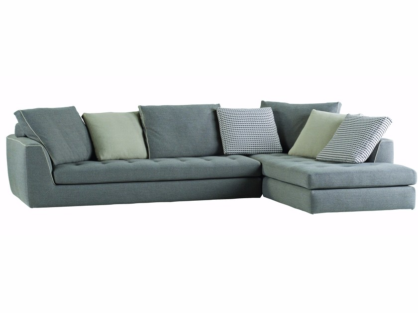 Corner fabric sofa with removable cover URBAN - ROCHE BOBOIS