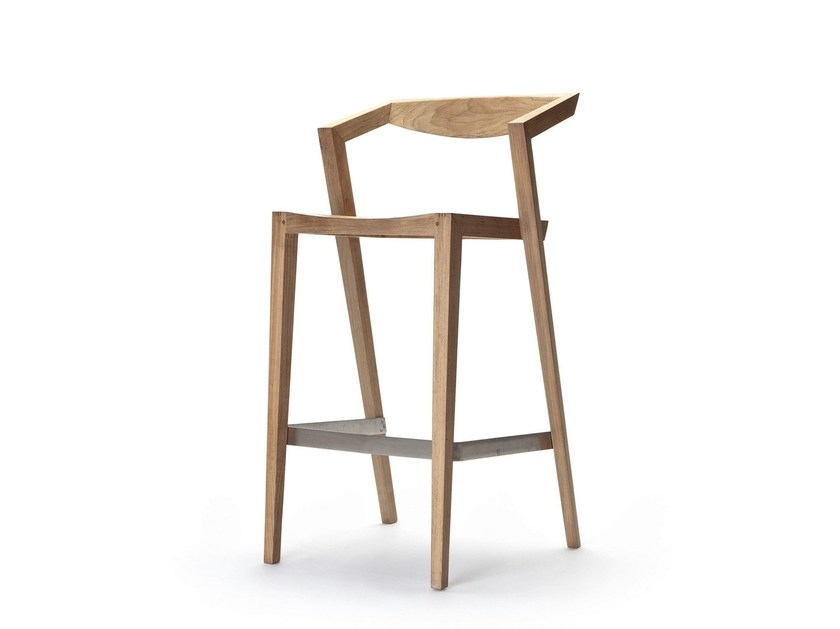 Sedia alta in teak con poggiapiedi URBAN | Sedia alta - Feelgood Designs