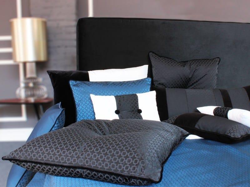 Solid-color fire retardant jacquard fabric URBANA CLOSE by l'Opificio